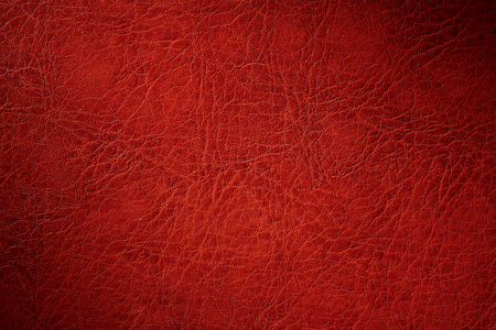 texture of red natural leather closeup with dimming 免版税图像