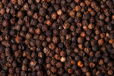 black pepper close-up top view