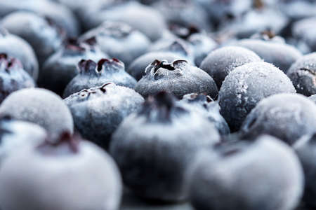 Frozen blueberries close-up. 免版税图像 - 154760844