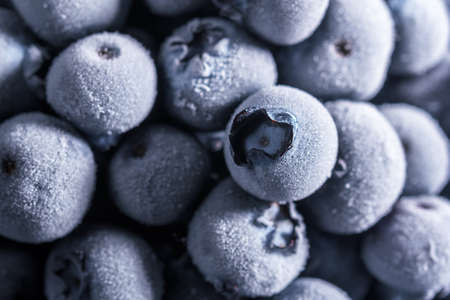 The texture of frozen blueberries. Top view 免版税图像 - 154761046