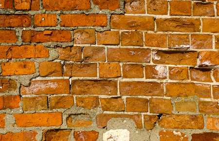 non uniform: old bricklaying
