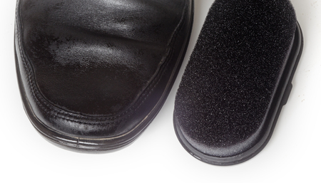 outsole: one mens shoes black and Shoe-Polish