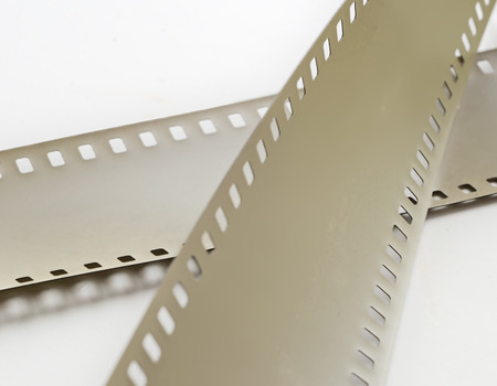 perforation: illuminated with perforation of the photographic film on a light surface