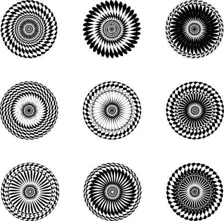 nine oval asymmetrical geometric patterns for design  Reklamní fotografie