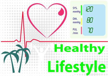ハートビートを描いた画像中心線言う健康的なライフ スタイル