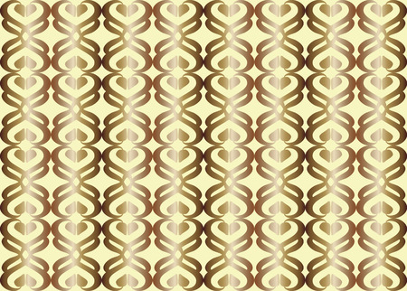the heterogeneity: vector abstract , repeating pattern imitating gold color on a light yellow background. Seamless