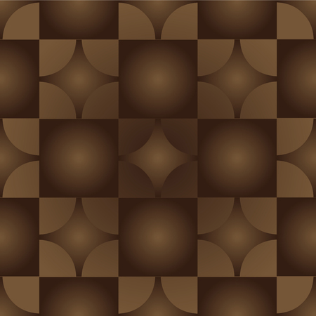 geometric seamless pattern; composed of a symmetrical gradient fills brown. Simulates parquet flooring
