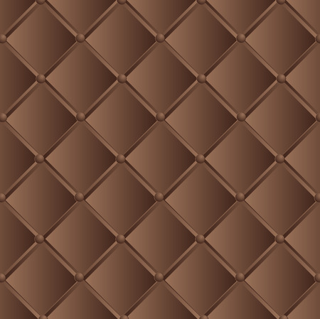 leather texture: vector illustration texture dark brown quilted leather