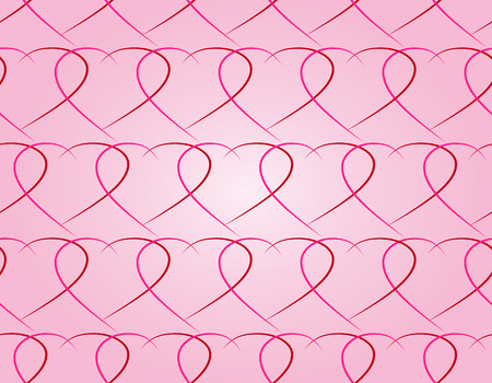 vector seamless pattern of pink and red heart symbols on a light pink background. For art and design, greeting cards