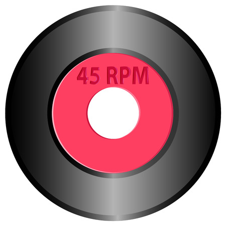 vector drawing record 45 rpm Vector Illustration