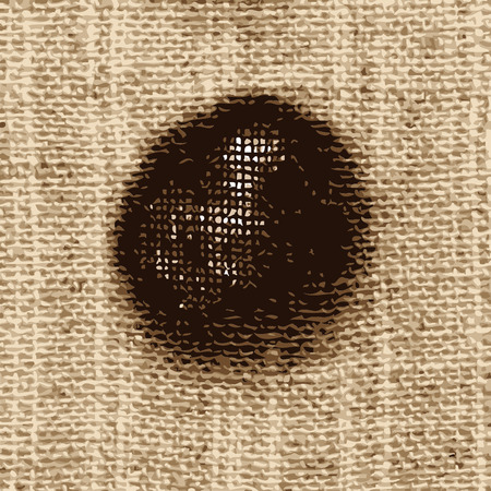 texture of old linen fabric. vector image
