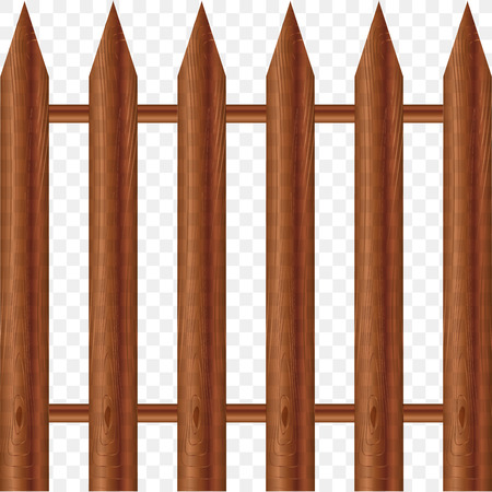 model of wooden fence . Vector illustration.