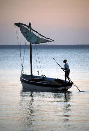 mozambique: Sail boat in Mozambique Stock Photo