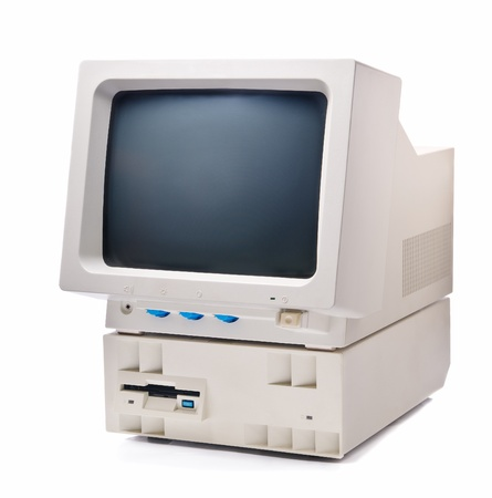 Screen and CPU vintage pc with floppy disk Stock Photo - 9372186