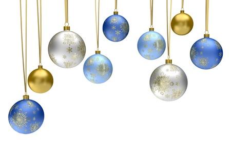 navidad elegante: Bolas de Navidad chucher�a Foto de archivo