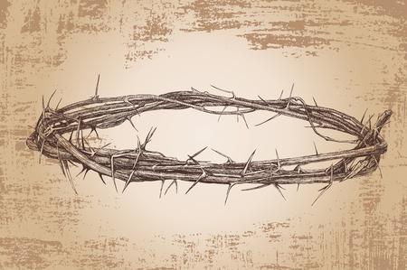 humildad: corona de espinas