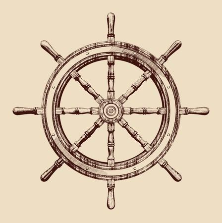 timon barco: barco de ruedas