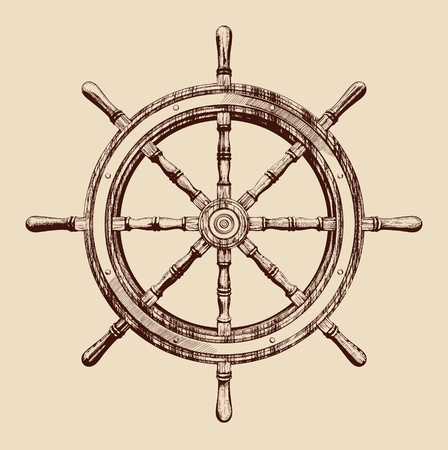ship wheel Stock Vector - 12752794