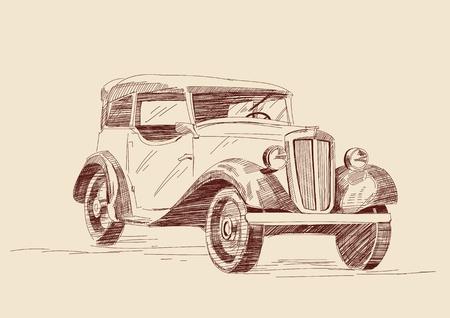 vintage car: retro car