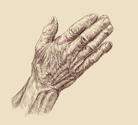 orando manos: Manos que oran Foto de archivo