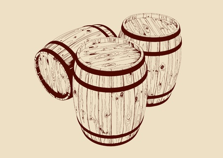 warehouse equipment: barrel Illustration