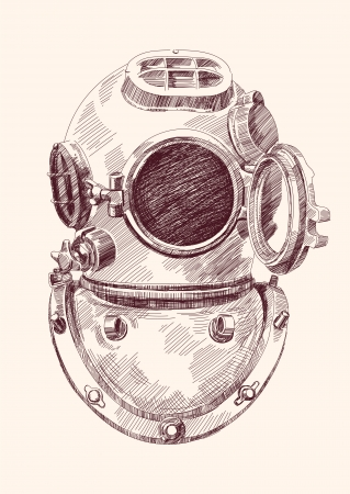 diver: Antique divers helmet