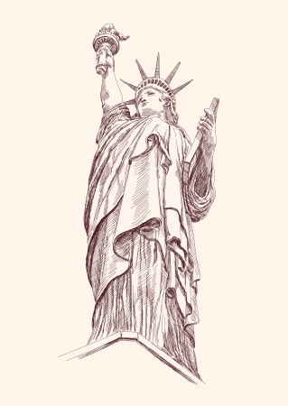 international law: Statue of Liberty Illustration