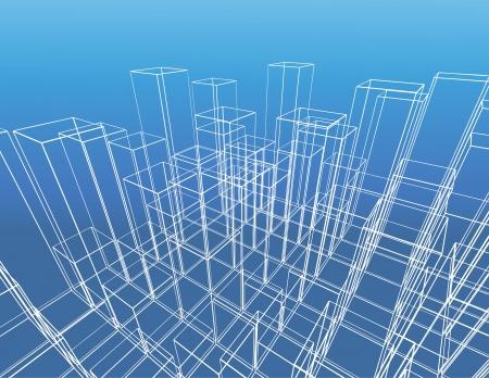 abstract city vector construction Vector