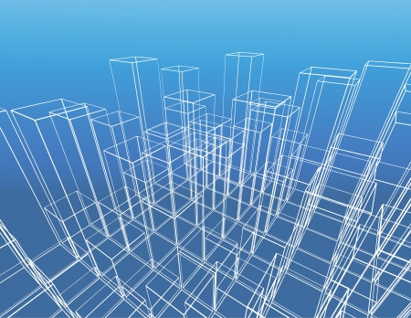 building exterior: abstract city vector construction