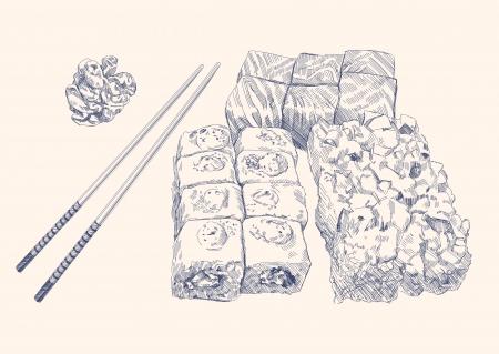 soy sauce: Sushi Set