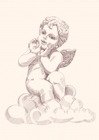angel or cupid isolated  Illustration