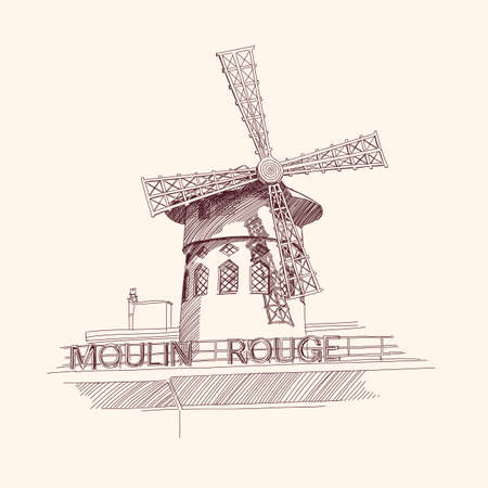 Moulin Rouge, Paris Vector