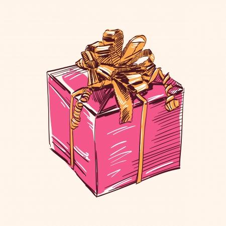 Vintage gift box vector illustration Vector