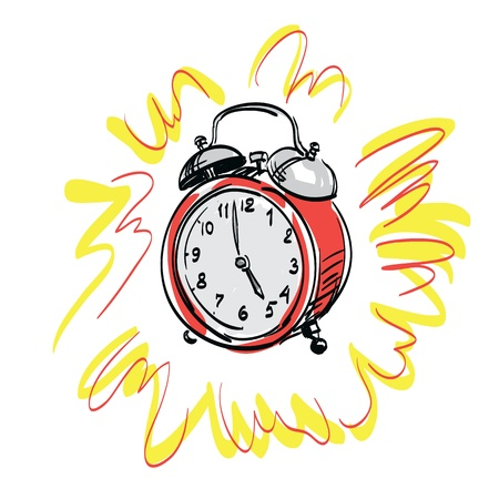 alarm clock   illustration Vector