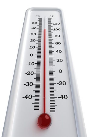thermometer, hot Isolated on white background