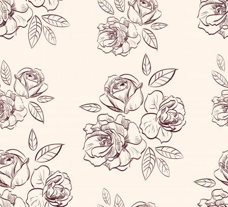 vintage floral rose  background Stock Vector - 14522213