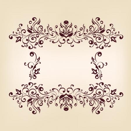 brown: Vintage frames and design elements