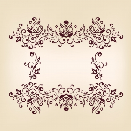 Vintage frames and design elements Stock Vector - 15466703
