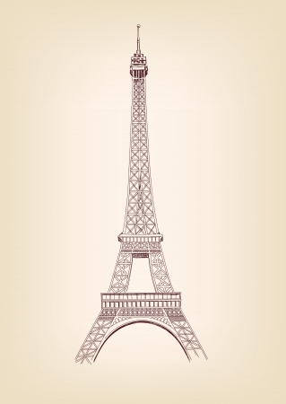 eiffel: Eiffel tower vector illustration