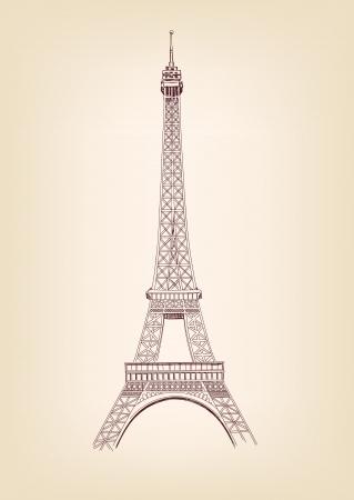 eiffel tower: Eiffel tower vector illustration