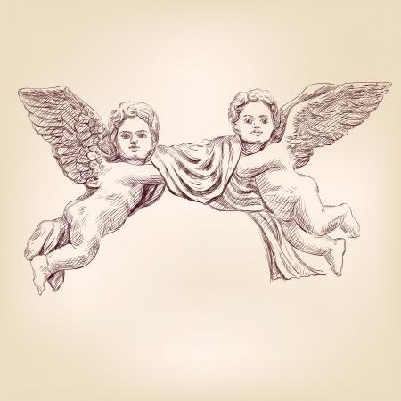 ali angelo: angeli o cupid isolato