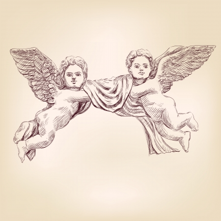 angels or cupid isolated Vector