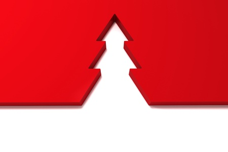 abstract christmas tree isolated on white background Stock Photo - 16128746