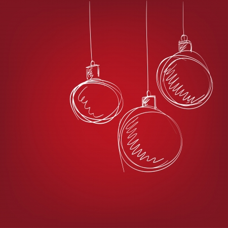 Christmas balls - hand drawn  vector illustration  isolated Vector