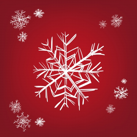 snowflake - hand drawn  vector illustration  isolated Stock Vector - 16383701