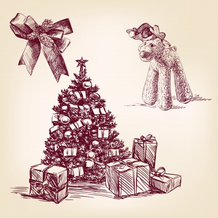 christmas collection hand drawn Stock Photo - 16464575