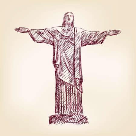 동상: 리우 데 자네이루에있는 예수 그리스도의 동상