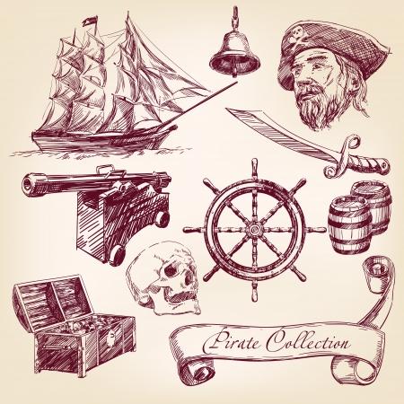capitano: pirata raccolta Vettoriali