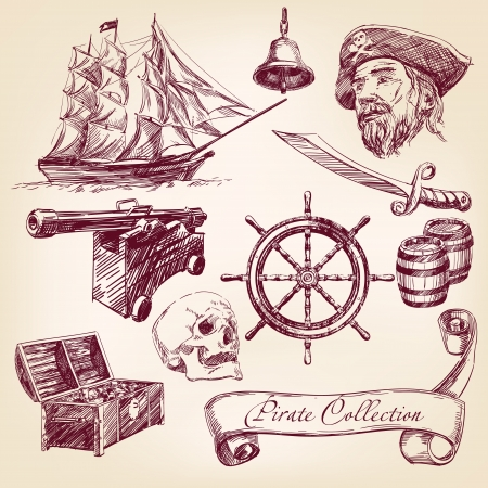 ship sign: pirate collection