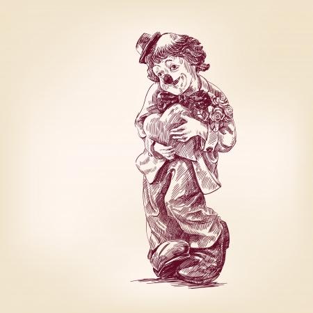 clown hand draw Stock Vector - 17450770